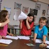 Elementary school students use hands-on exploration to study scientific concepts.