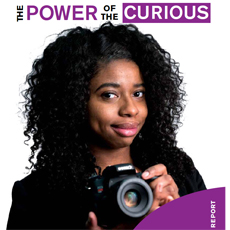Chicago Public Library and Chicago Public Library Foundation annual report 2015; cover says The Power of the Curious