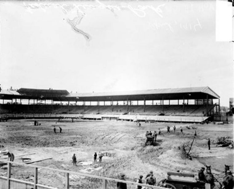 Construction of Weeghman Park, March 1914