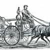 Horse-drawn steam engine