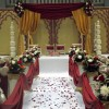 Wedding aisle and alter