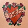 Heart tattoo with the word mother