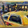 painting, taxi