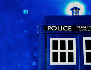Closeup of Tardis from Doctor Who