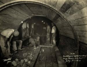Bryn Mawr Avenue, bricklayers, north heading, July 9, 1930.