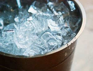bucket filled with ice
