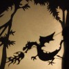 Dragon shadow puppet in the forest