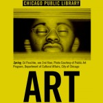 The cover of a brochure showing a painting by Ed Paschke