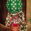 Elf on the shelf in hot air balloon