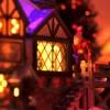 Scrooge looking through window