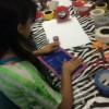 girl working on craft