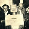 Cybernetics group team with their robot TIOSS on Zagreb ETH university 1962