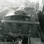 Elevation of north side of building, 1990 September 26. Source: Chicago Public Library Archives. Harold Washington Library Center Construction Photographs. Peter Fish Studio, Chicago.