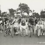 Bicycle parade, Garfield Park, circa 1935. Source: Chicago Public Library, Special Collections, Chicago Park District Records: Photographs, Box 22, Folder 22.