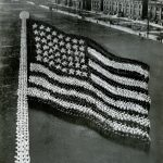 Human American Flag, Great Lakes Naval Training center, near Chicago, 1917. Source: Special Collections, World War I Collection, 2008.37.1