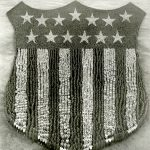The Human U.S. Shield, 30,000 people, Camp Custer, Battle Creek, Michigan, 1918. Source: Special Collections, World War I Collection, 2008.37.1