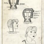 Drawn instructions for creating a female grotesque head. Source: Special Collections, Chicago Park District Records: Drawings, Drawing 3868