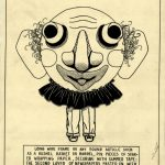 Drawn instructions for creating a clown grotesque head. Source: Special Collections, Chicago Park District Records: Drawings, Drawing 3914